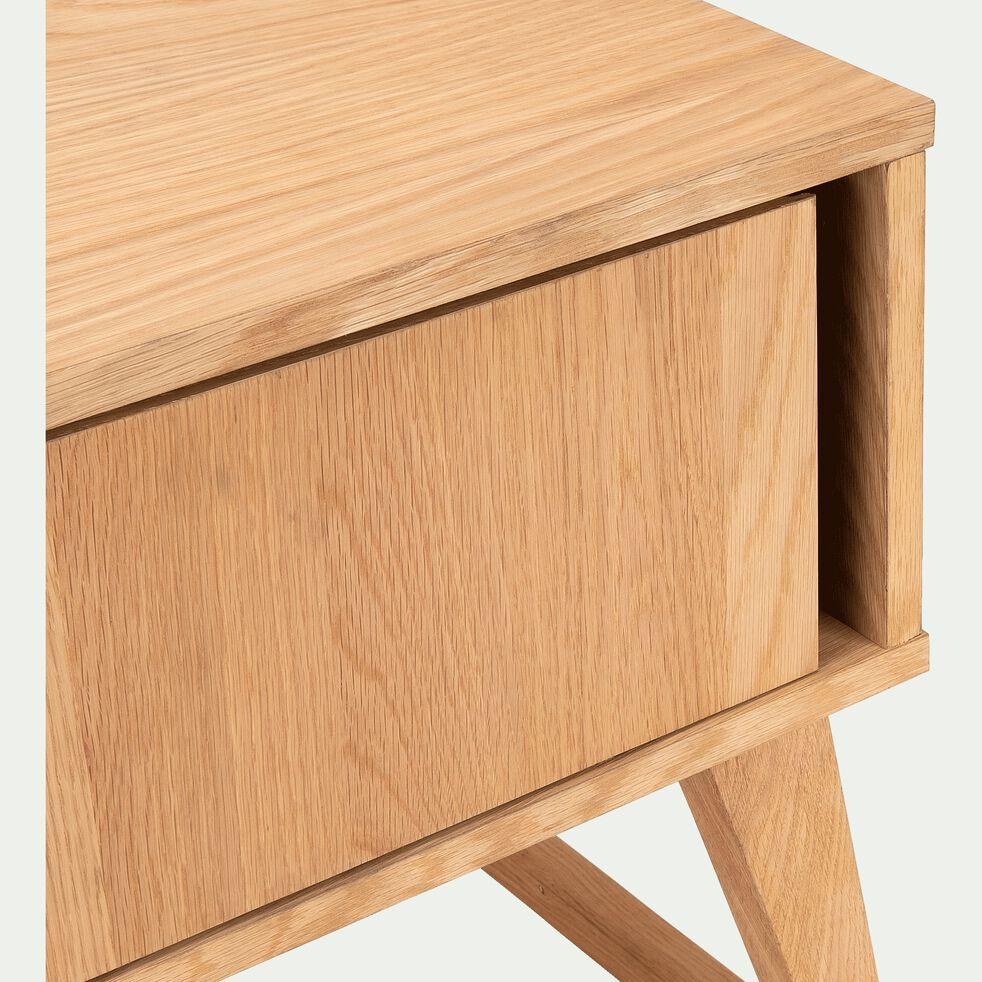 Table de chevet en plaqué chêne-BRUNA