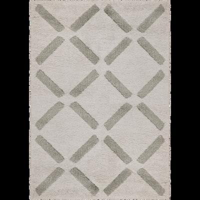 Tapis à poils courts beige 160x230cm-LEA