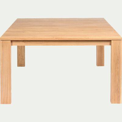 Table de repas carrée en chêne massif - 8 places-EMOTION