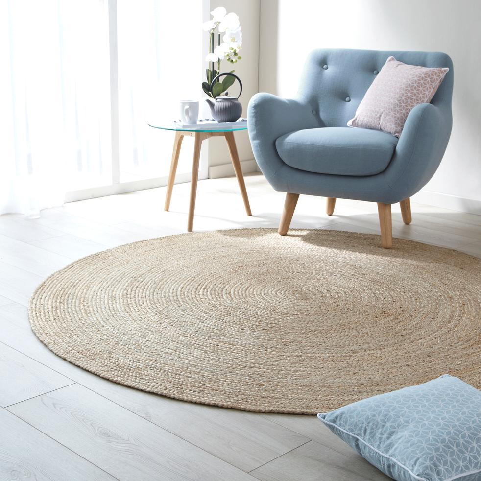 tapis rond en jute d90cm rush 90 cm catalogue storefront alin a alinea. Black Bedroom Furniture Sets. Home Design Ideas