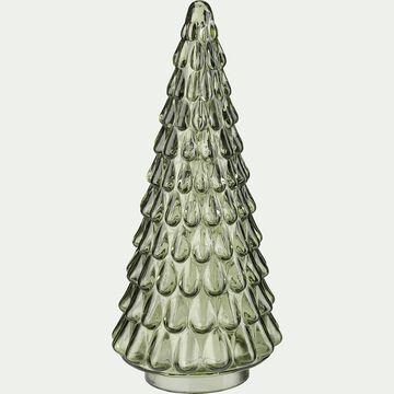 Sapin décoratif en verre - vert H23cm-LISANDRU