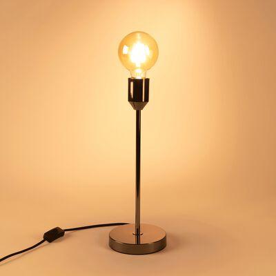 Lampe à poser en métal argenté H40cm-DOUG