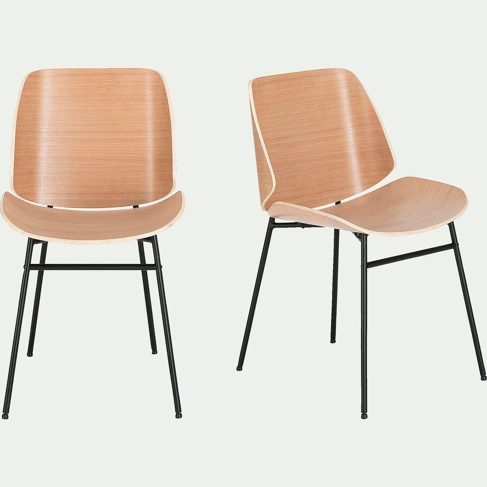 Chaise en bois plaqué naturel-CORDOBA