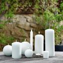 Bougie cylindrique blanc capelan-HALBA