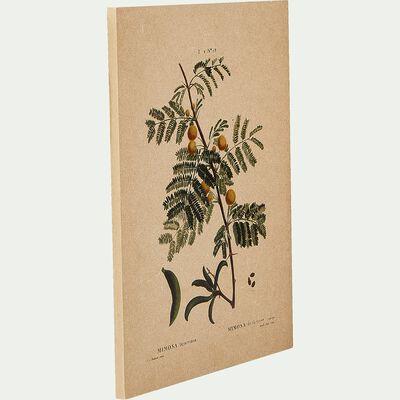 Toile imprimée - l30xH40 motif mimosa-ROUMIE
