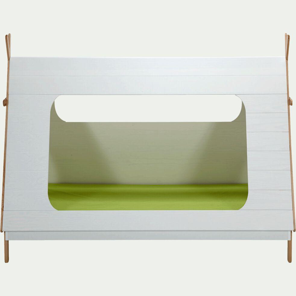 Lit forme tipi 1 place en pin massif 90x200 cm - blanc-TIPI