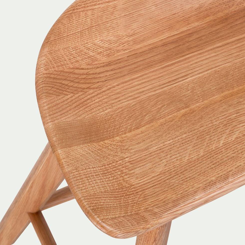 Tabouret en chêne - H66cm naturel-KOA
