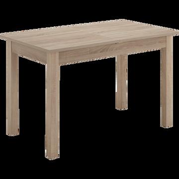 Table de repas extensible rectangulaire - 4 à 6 places-TENOR