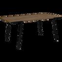 Table de repas plaquée noyer - 8 places-DON