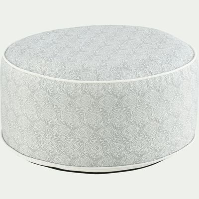 Pouf de jardin en tissu à motif - blanc D53cm-Caprice