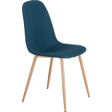 Chaise en tissu bleu figuerolles-CHARLINE