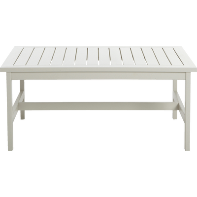 Table basse de jardin blanche en acacia-DOMINO