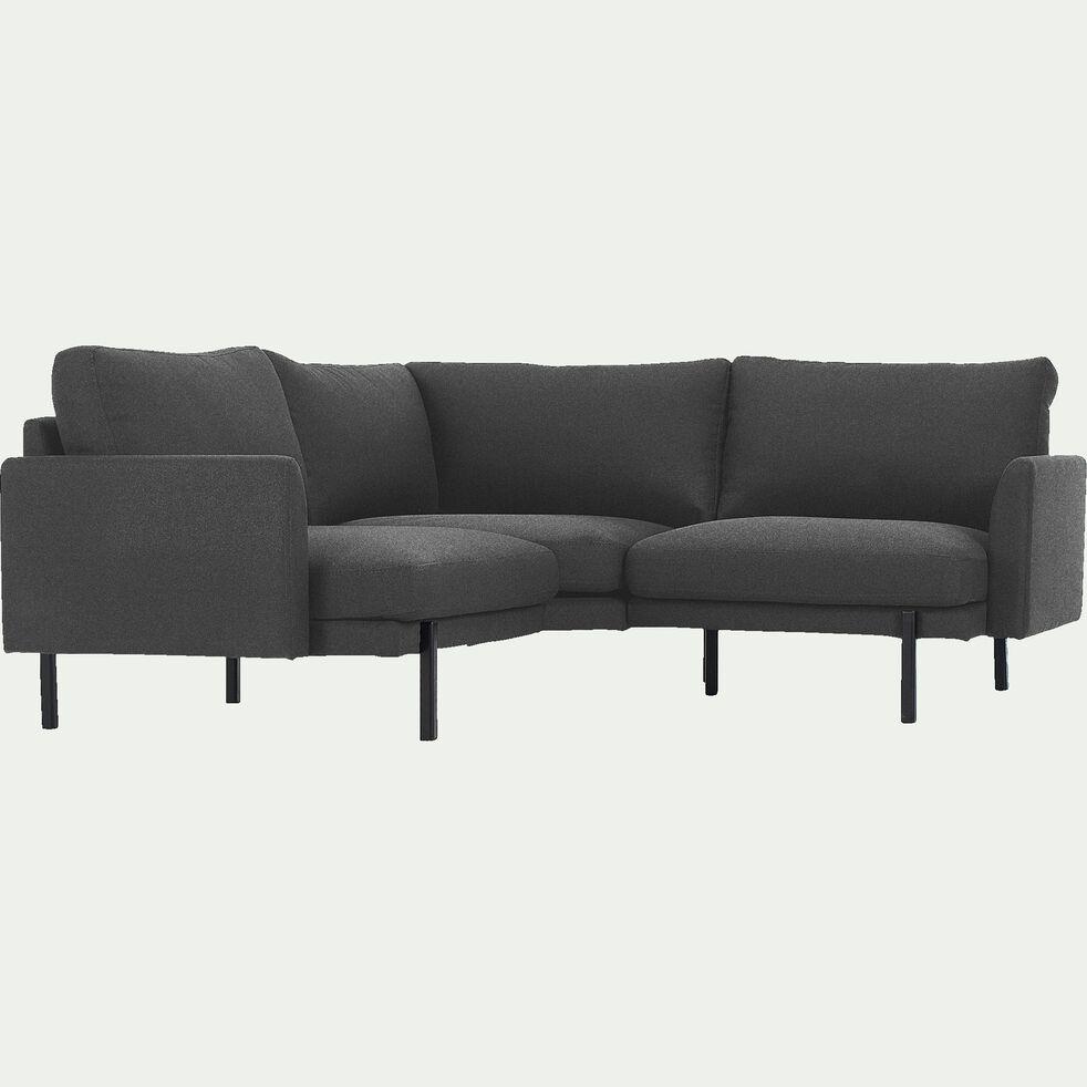 Canapé d'angle fixe 3 places en tissu - gris restanque-CARLES