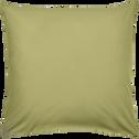 Taie d'oreiller en coton lavé vert guarrigue 65x65 cm-CALANQUES