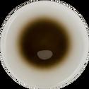Assiette à dessert en verre avec dégradé vert D21cm-AURORE