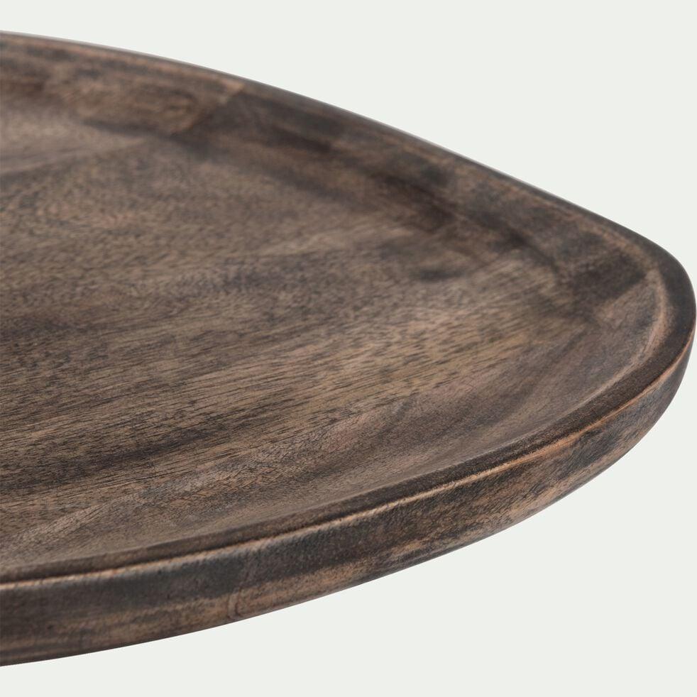 Plateau de présentation en bois de manguier - marron 30,5x29cm-BOSCU