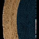 Tapis rond bleu myrte en jute - Plusieurs tailles-NAÏA