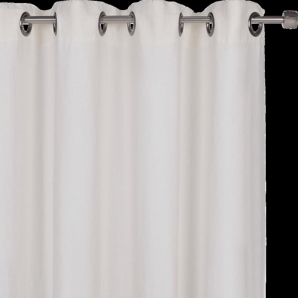 rideau oeillets en lin lav blanc ventoux 140x280cm. Black Bedroom Furniture Sets. Home Design Ideas