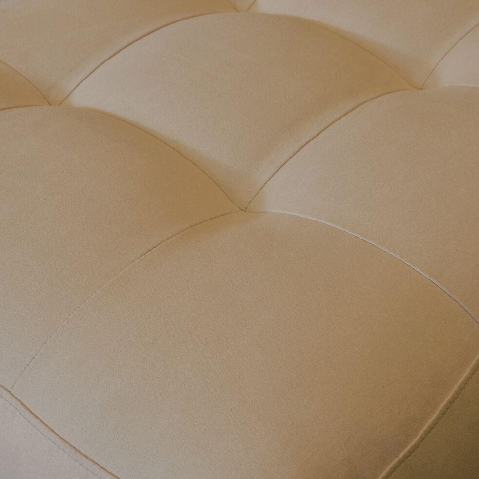 Pouf en tissu microfibre - beige-MAURO