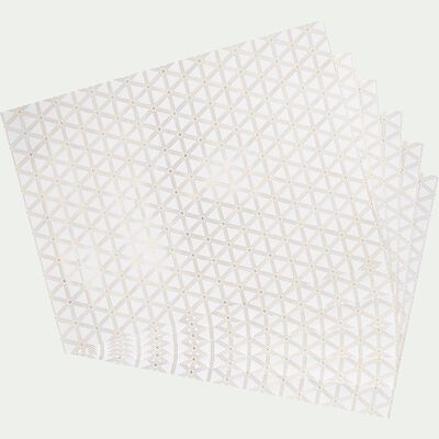 Set de table en papier blanc-ACTE