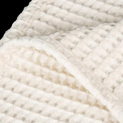 Jeté de lit en coton gaufré blanc capelan 180x230cm-GOYA