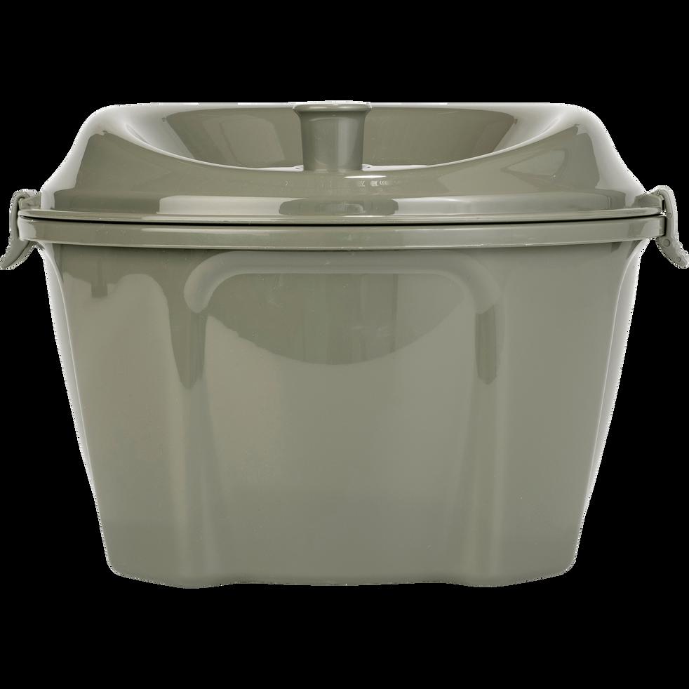 Essoreuse à salade vert cèdre D25cm-ESTOURA