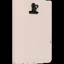 Porte-bloc format portrait Rose argile-SORYS