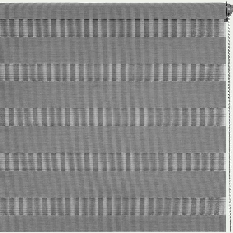 Store enrouleur tamisant - gris anthracite102x190cm-JOUR-NUIT