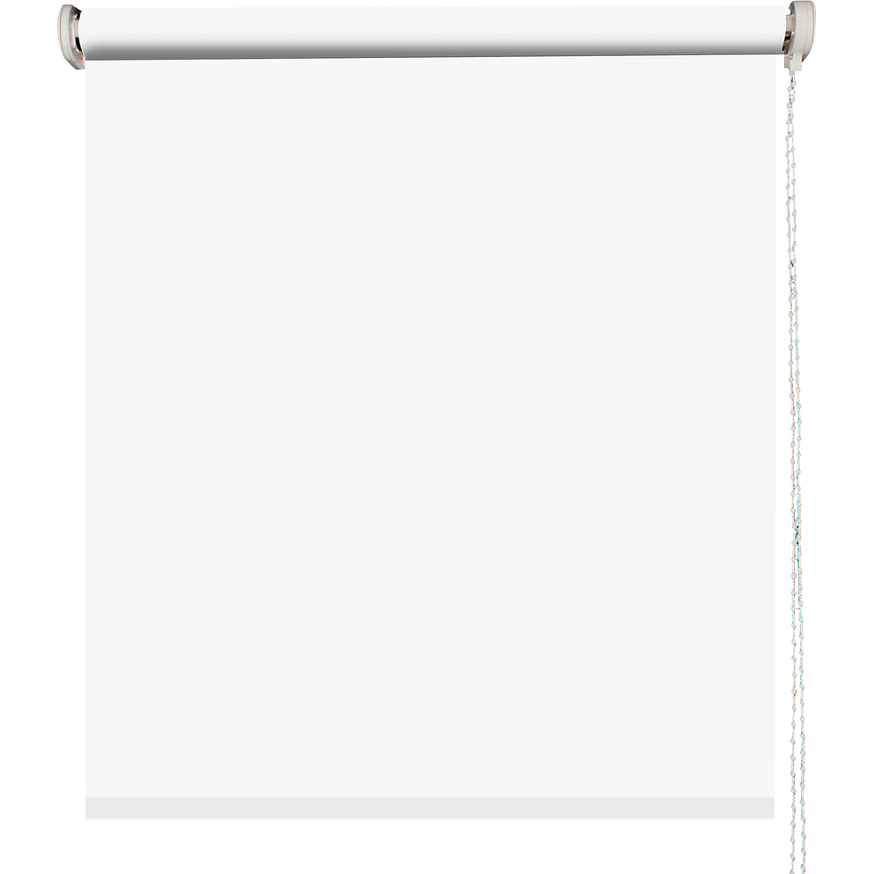Store enrouleur uni tamisant blanc 80x190cm-TAMISANT