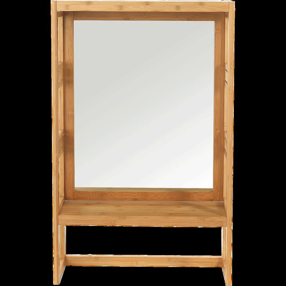 Danong - Miroir rectangulaire de salle de bains en bambou H100cm