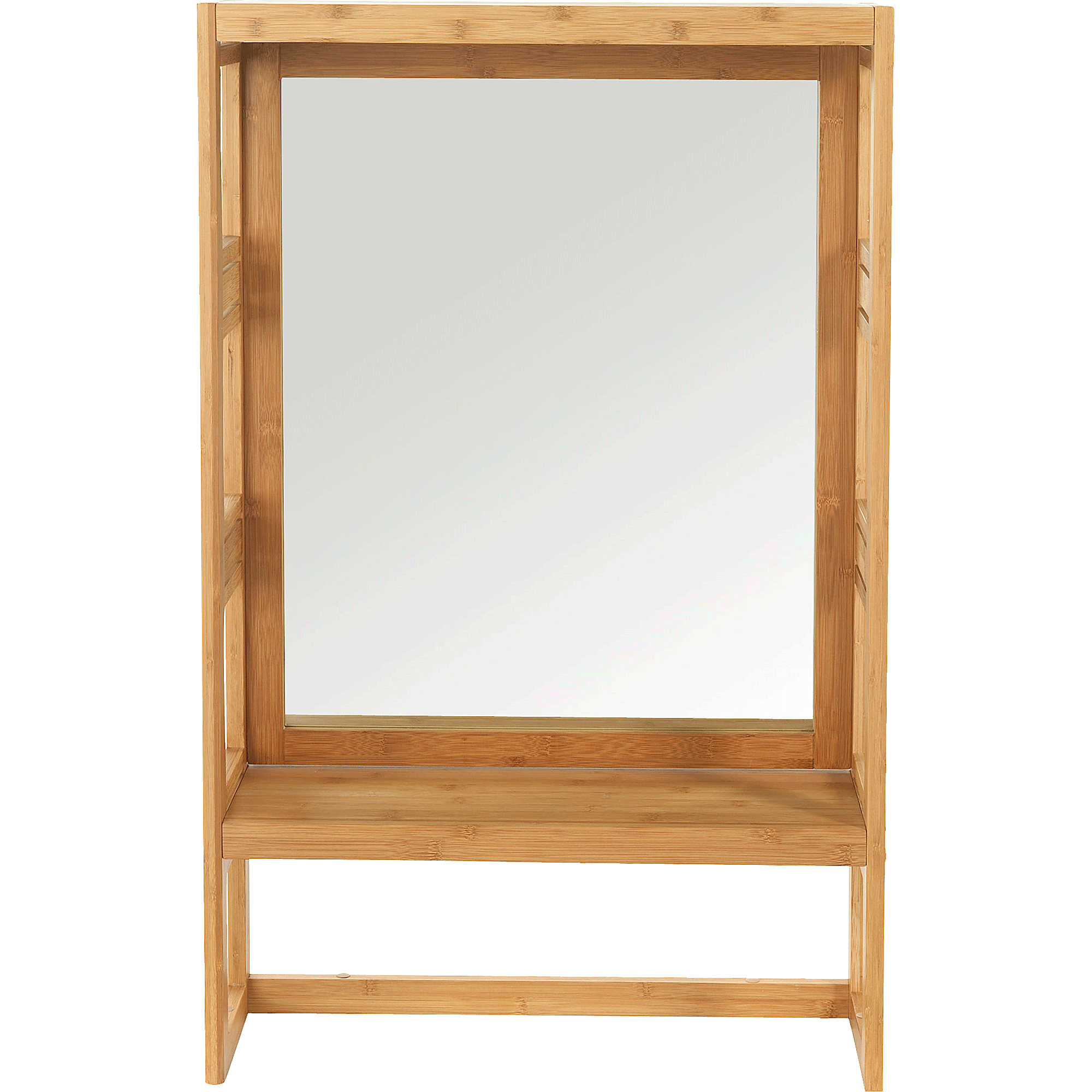 Miroir Rectangulaire De Salle De Bains En Bambou H100cm Danong