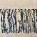 Coussin en lin beige et bleu 40x40cm-NAVOï