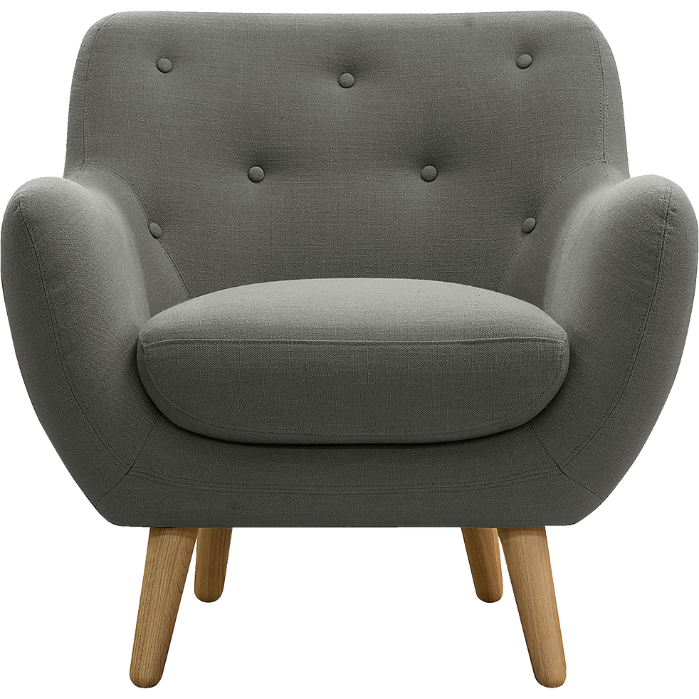 fauteuil esprit scandinave gris clair poppy fauteuils et poufs alinea. Black Bedroom Furniture Sets. Home Design Ideas