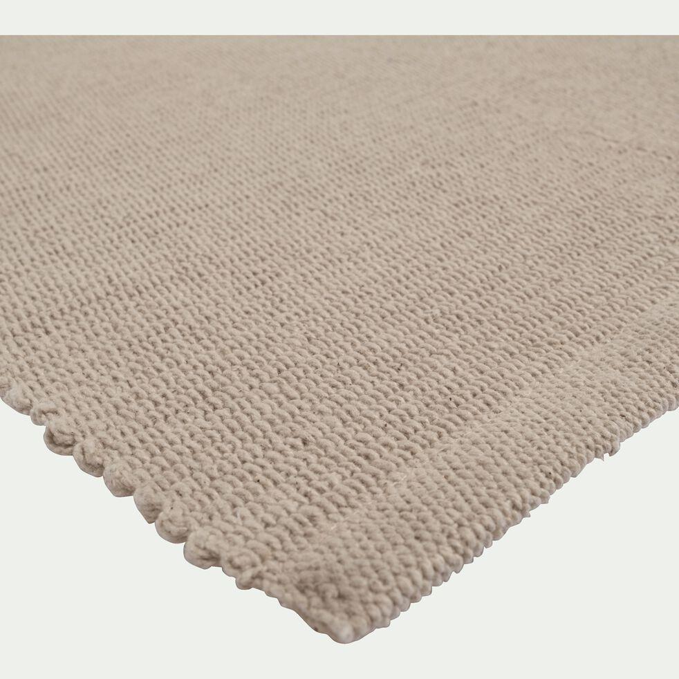 Descente de lit en coton - beige roucas 60x120cm-CAMELIA