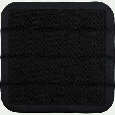 Galette de chaise indoor & outdoor en tissu déperlant - gris borie-KIKO