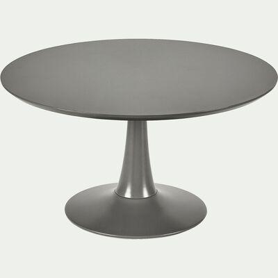 Table basse ronde gris restanque avec pied tulipe-ACANTHE
