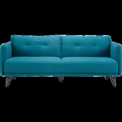 Canapé 4 places fixe en tissu bleu-FAIRWAY