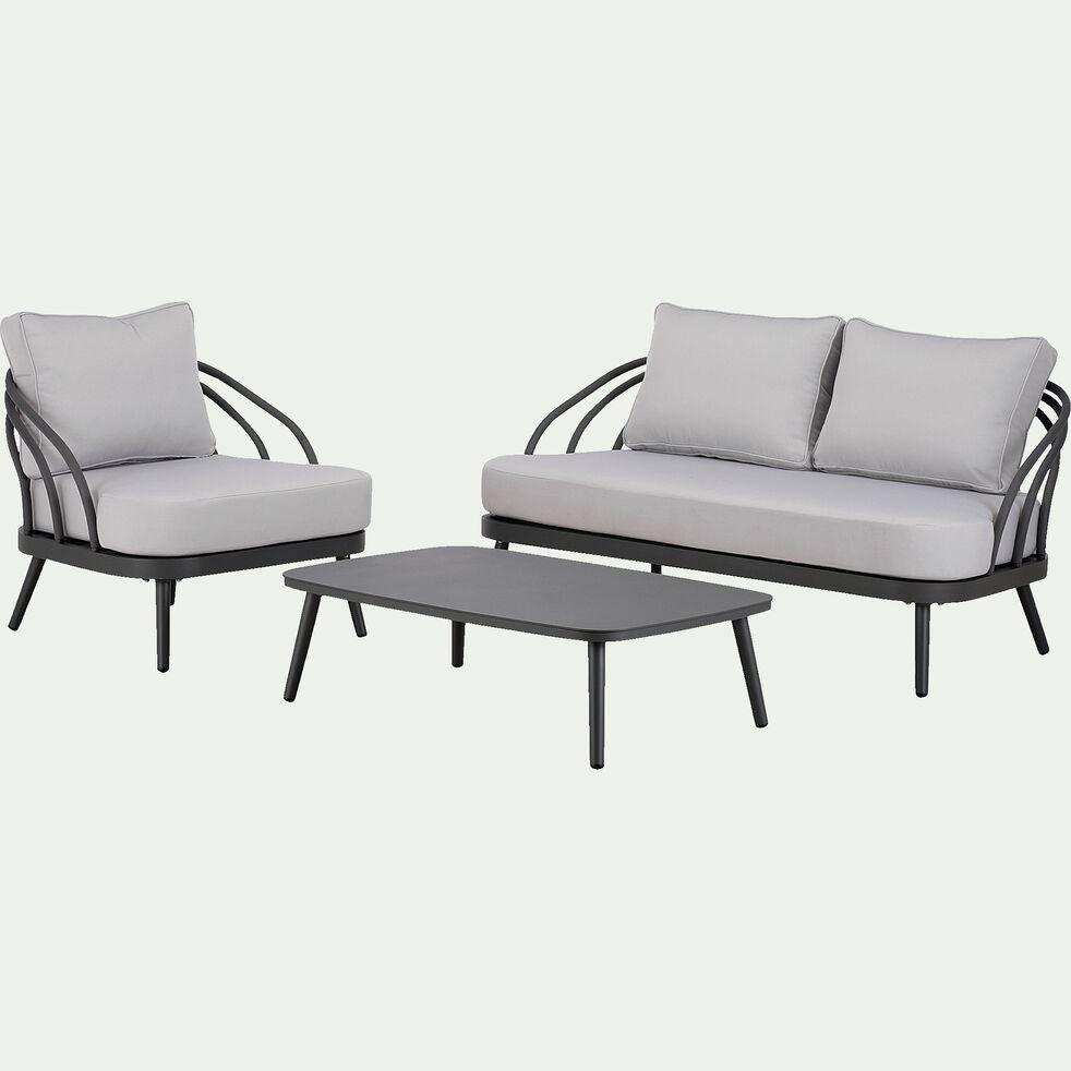 Table basse en aluminium l105cm - gris-Maara