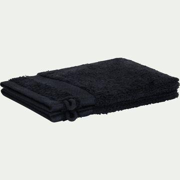 Gant de toilette en coton peigné - gris calabrun-AZUR