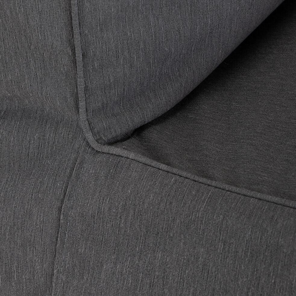 Fauteuil de jardin intérieur et extérieur en tissu - gris ardoise-LIGURIE