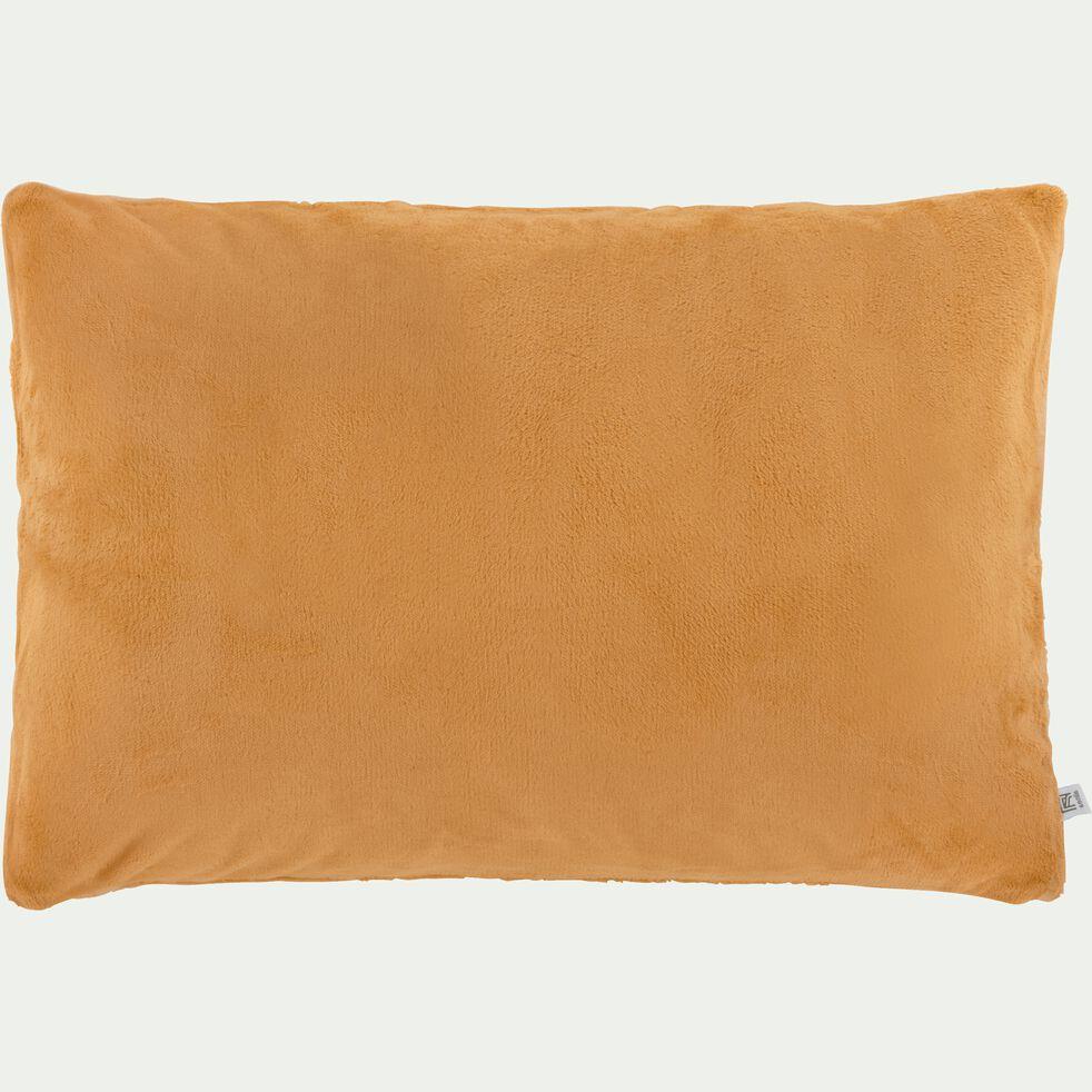 Housse de coussin effet polaire en polyester - beige nèfle 40x60cm-ROBIN