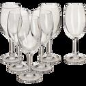 Coffret de 6 verres à vin en cristallin-TANA