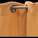 Rideau à oeillets en lin lavé beige nèfle 140x280cm-VENCE