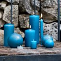 Bougie ronde bleu niolon D8cm-HALBA