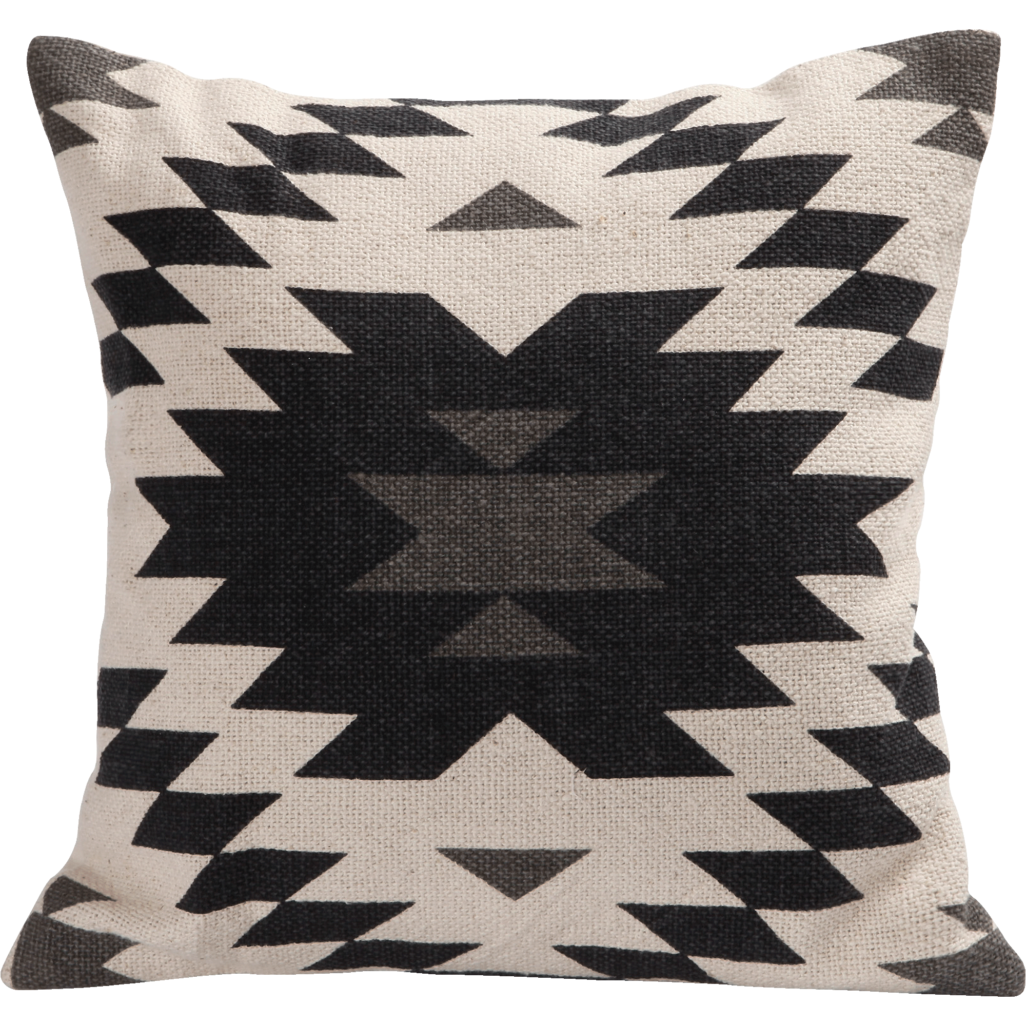 Coussin en coton motifs aztèques noirs 40