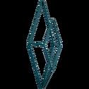 Patère en métal bleu 1 emplacement L14xl5xH30cm-PACHA