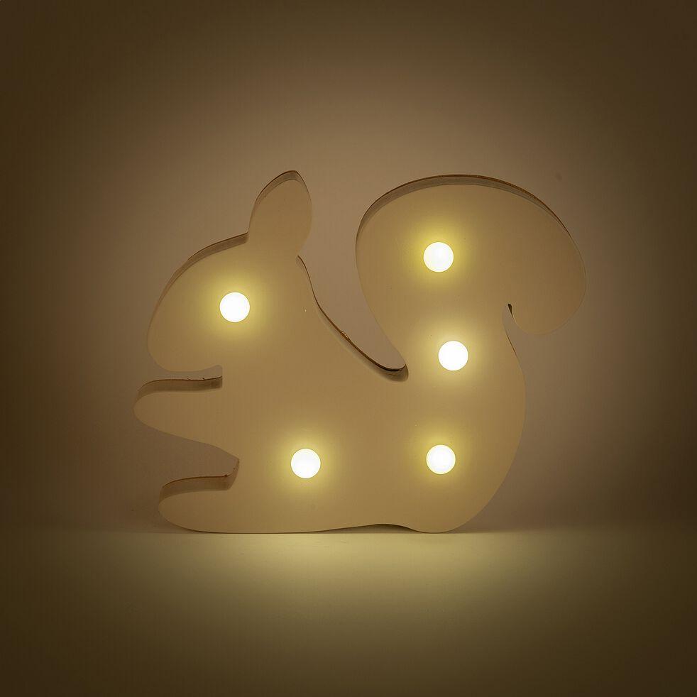 Veilleuse écureuil en bois 5 leds non électrifiée - beige alpilles-Lusour