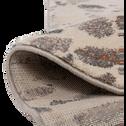 Tapis à poils courts blanc à motifs 160x230cm-TERRAZZO