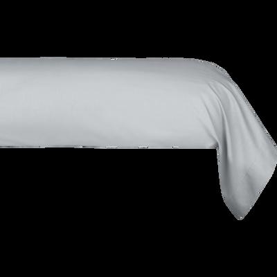 Taie de traversin en coton Gris borie 43x190cm-CALANQUES