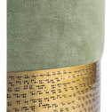 Pouf en velours martelé vert olivier-HYPNOS